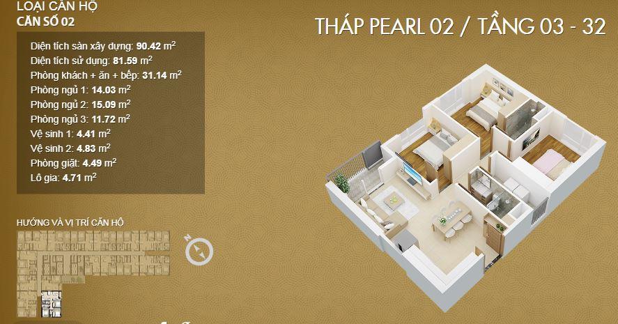 Thiết kế căn 03-Mỹ Đìn Pearl 2
