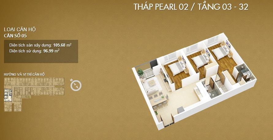 Thiết kế căn 05-Mỹ Đình Pearl 2