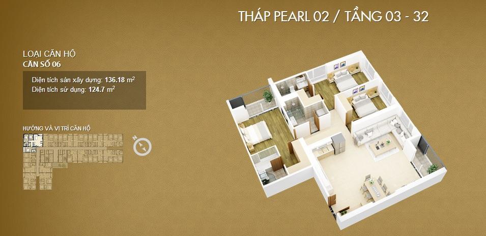 Thiết kế căn 06-Mỹ Đình Pearl 2
